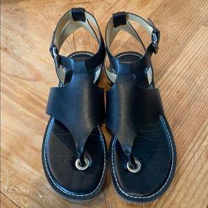 Michael Kors Black Thong Sandals